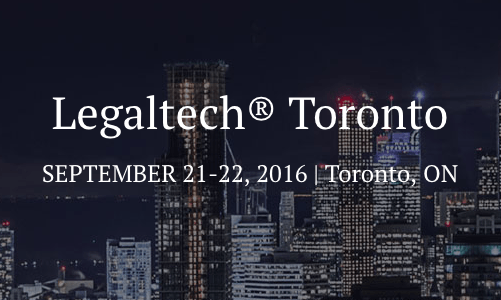 LegalTech Toronto and Security Panel