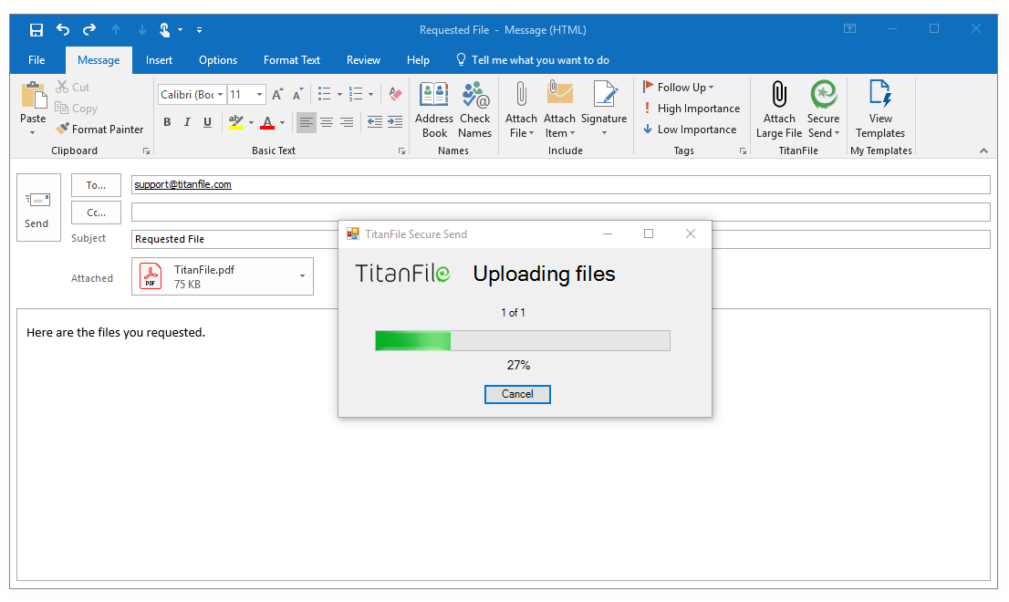 send large files in outlook