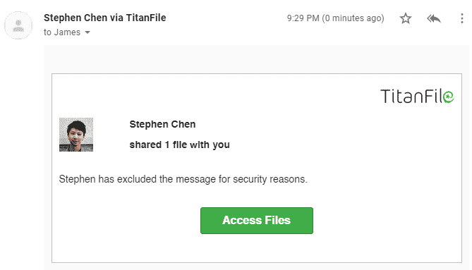 TitanFile Email Notification