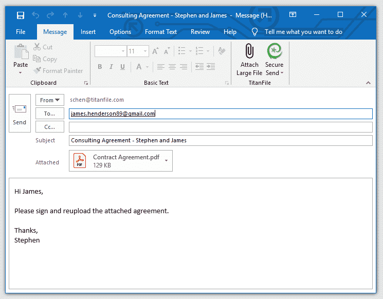 How to Send Encrypted Emails in Outlook - TitanFile Secure Send