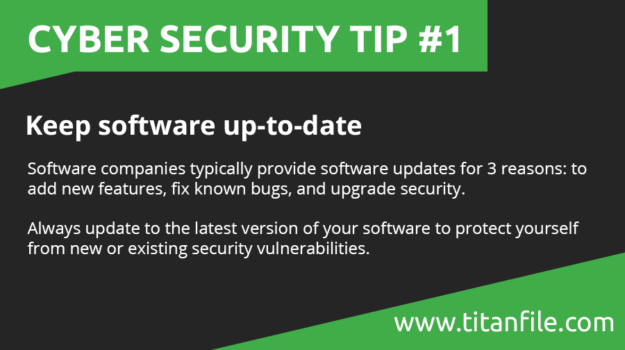 Cyber Security Tip #1