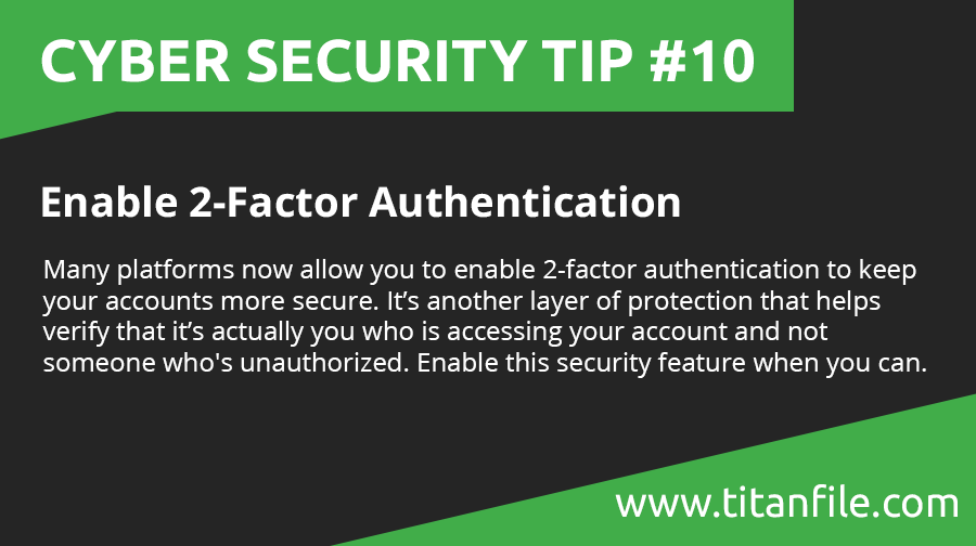 Cyber Security Tip #10