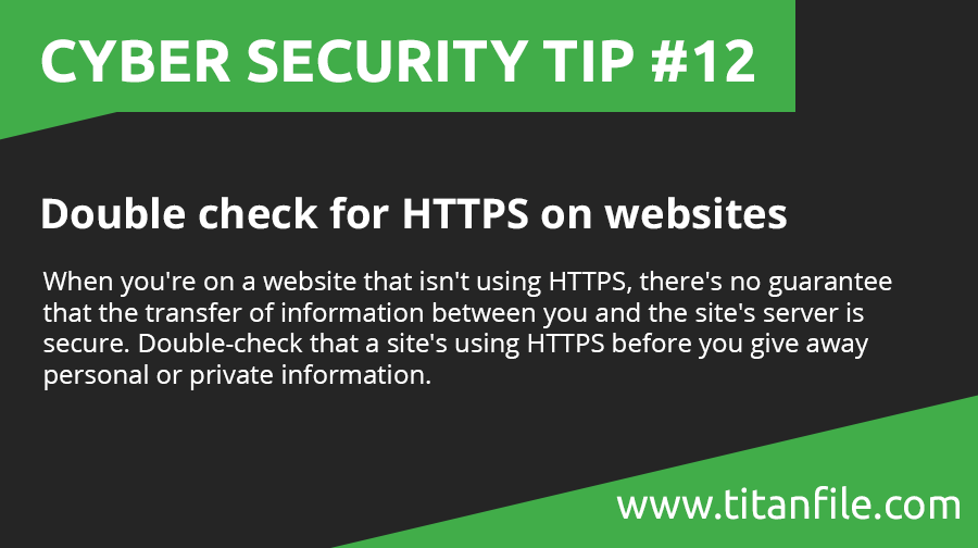 Cyber Security Tip #12