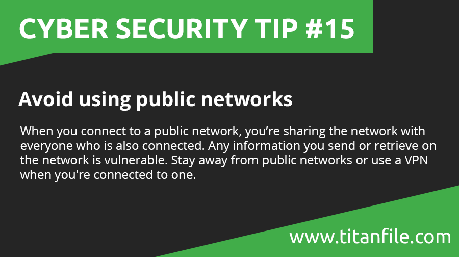 Cyber Security Tip #15