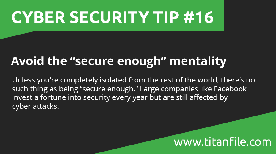 Cyber Security Tip #16