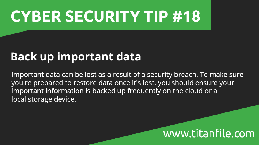 Cyber Security Tip #18