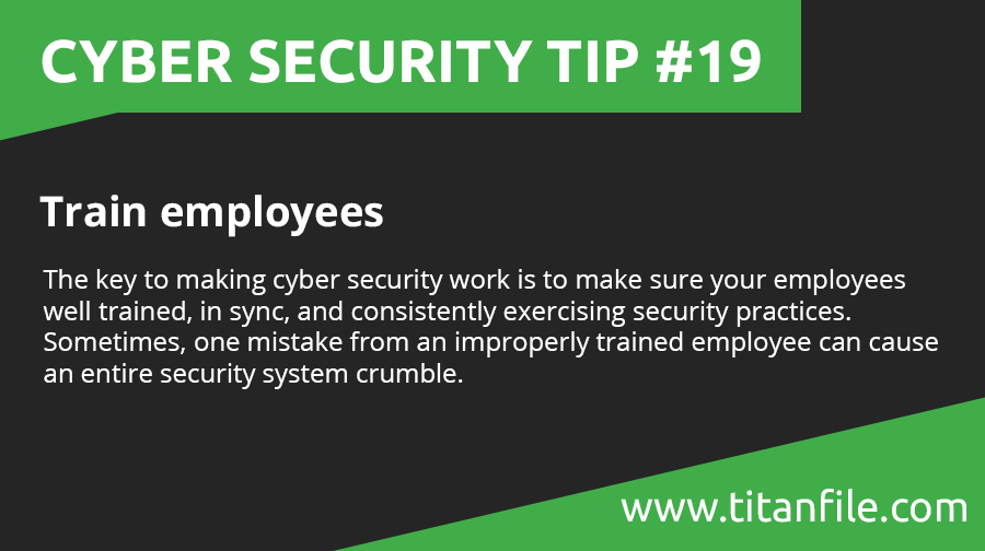 Cyber Security Tip #19