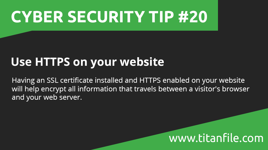Cyber Security Tip #20