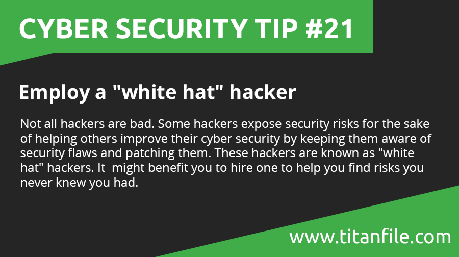 Cyber Security Tip #21