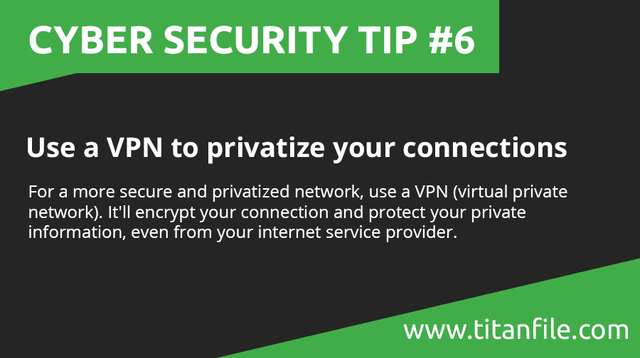 Cyber Security Tip #6