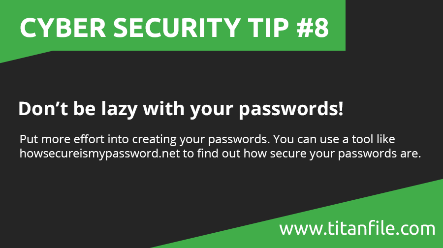 Cyber Security Tip #8